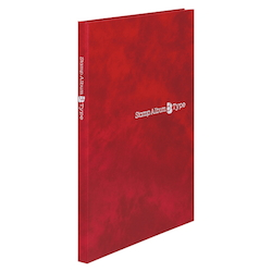 Stamp Album B Type, B5-Sized Vertical, Red, Standard: 6-Stage SB-30N-04
