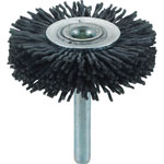 Shaft Mounted Wheel Brush (for Electric / Shaft Diameter 6 mm / Round Shaft Type) (with Abrasive Grains)
