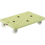 "Anti-Static Plastic Platform Trolley ""Rutoban"" (All Rotatable Casters)"