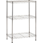 Stainless Steel Wire Mesh Rack (SUS304, Load Capacity/Shelf: 30 kg, Pipe Dia. φ 19 mm) Pole (x 4) Set