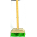 Sun Synthetic Deck Brush with Wooden Handle