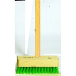 Synthetic Deck Brush with Wooden Handle