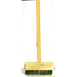 Wire Deck Brush with Wooden Handle, Straight