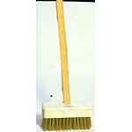 Wire Deck Brush with Wooden Handle, Corrugated