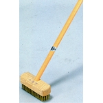 Brass Deck Brush with Wooden Handle