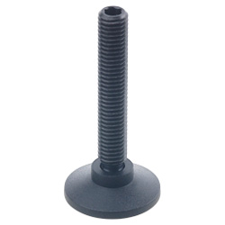 Ball jointed levelling feet, Plastic / Steel