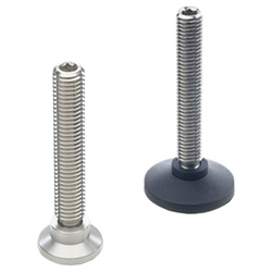 Ball jointed levelling feet, Plastic, Stainless Steel
