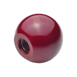Ball knobs, Plastic, red