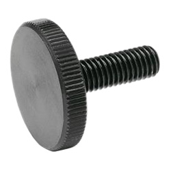 Flat knurled screws, Steel