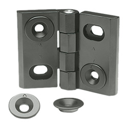 Hinges, adjustable, Zinc die casting
