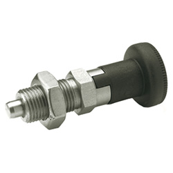 Indexing plungers with rest position, Stainless Steel / Plastic knob