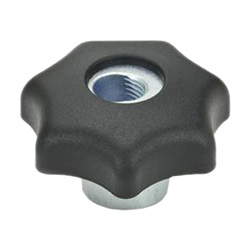 Quick release star knobs, Plastic