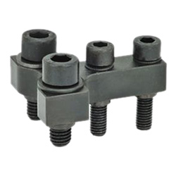 T-coupling / double post coupling accessories for pneumatic fastening clamps