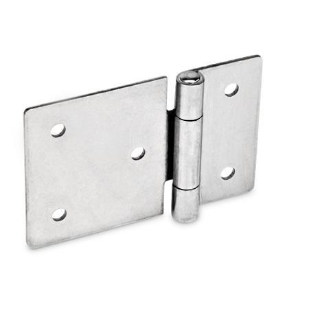Stainless Steel-Sheet metal hinges, horizontally elongated (GN 136)