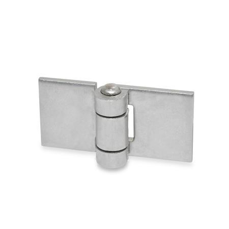 Stainless Steel-Sheet metal hinges, for welding (GN 1362)