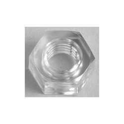 Écrou hexagonal, polycarbonate