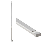 Gas Release Rectangular Ejector Pins -High Speed Steel SKH51/P・W Tolerance 0_-0.01/Free Designation Type-